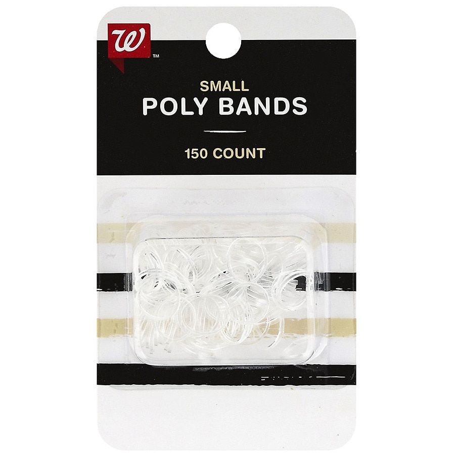 Walgreens Beauty Polybands Small Clear  905b7a73147