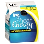 L'eggs Sheer Energy Tights Queen+ Jet Black