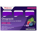 Walgreens Walgreens Omeprazole Acid Reducer Delayed-Release Tablets Wildberry Mint