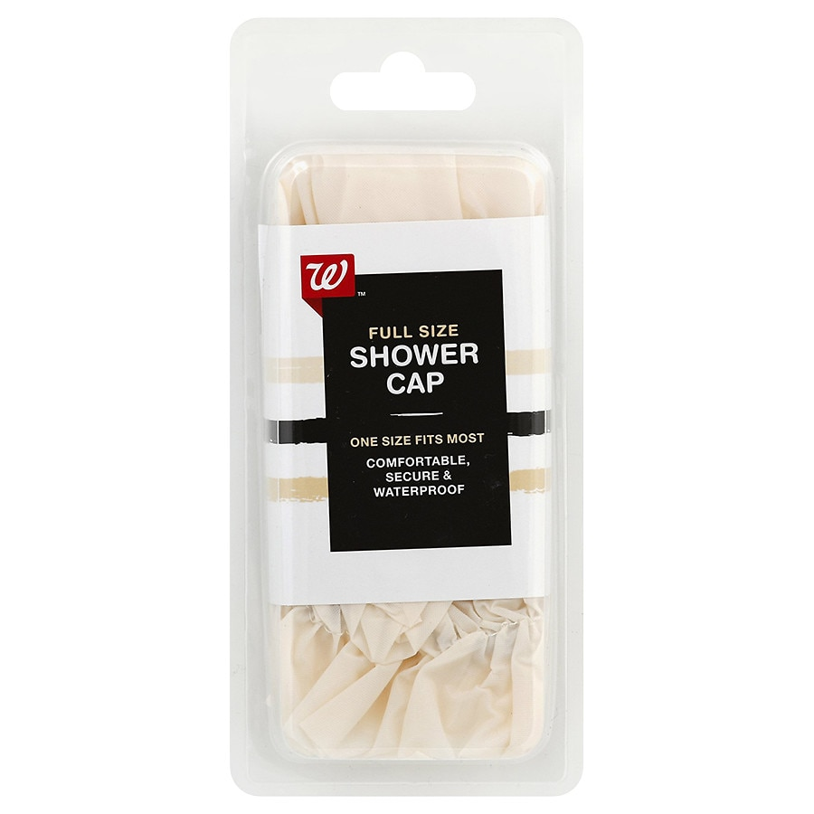 Walgreens Beauty Shower Cap Fits Most Colors Vary