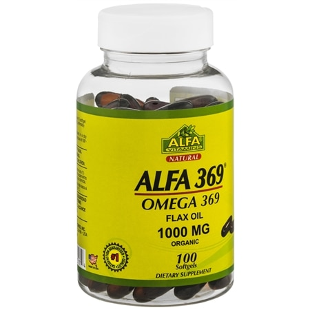 Image of Alfa Vitamins 369 Flax Oil Softgels - 100 ea