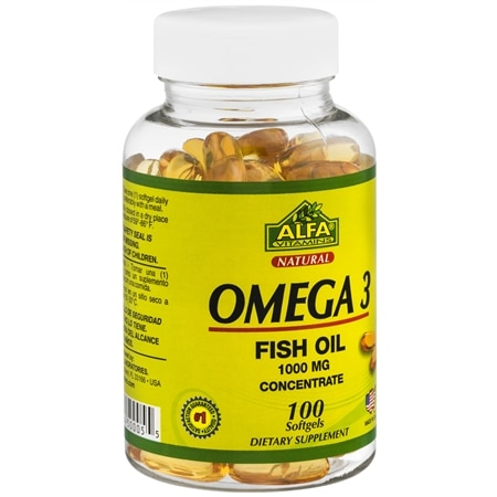 Image of Alfa Vitamins Omega 3 Fish Oil Softgels - 100.0 ea