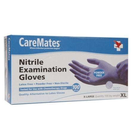 CareMates Nitrile Examination Gloves X-Large - 100 ea