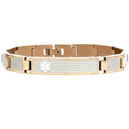 American Medical ID Rose Gold Lynx Shine - 1 ea