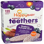Happy Baby Gentle Teethers Organic Teething Wafers Blueberry & Purple Carrot