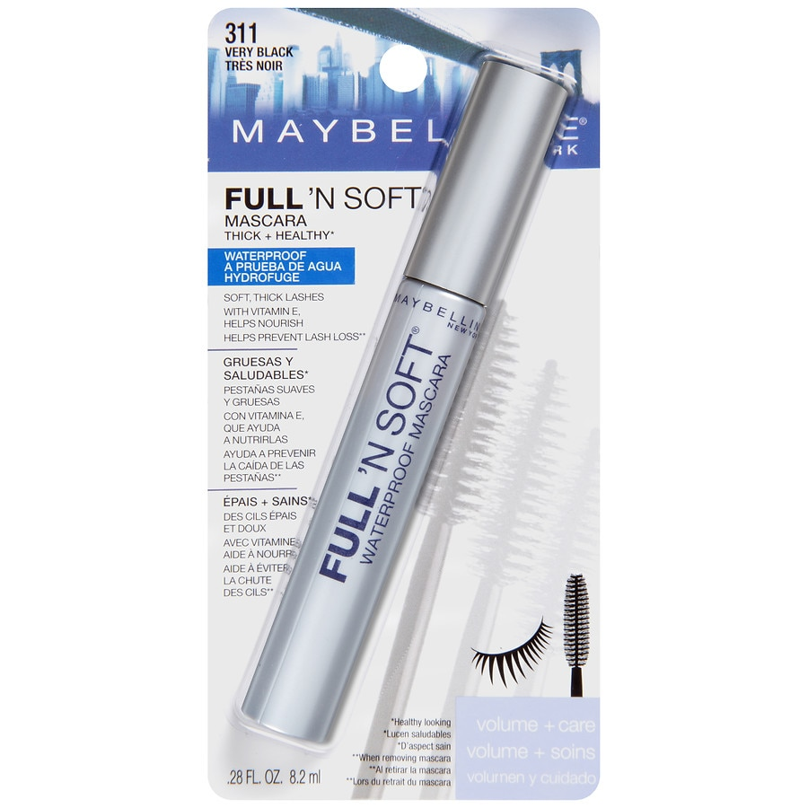 5803c48d00a Maybelline Full 'N Soft Waterproof Mascara, Very Black | Walgreens
