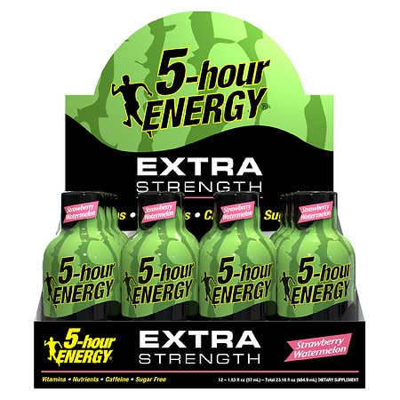 5-Hour Energy Extra Strength Energy Shot Strawberry Watermelon - 1.93 oz. x 12 pack