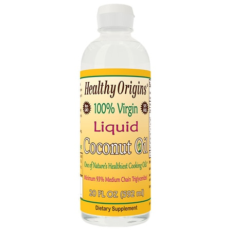 Healthy Origins 100% Virgin Liquid Coconut Oil - 20 fl oz