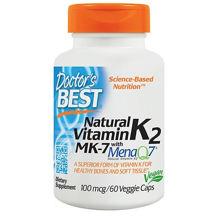 Doctor's Best MK-7 Vitamin K2 100mcg, Veggie Capsules - 60 ea