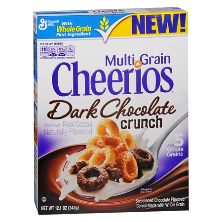 Cheerios Multi Grain Dark Chocolate Crunch Cereal - 12.1 oz.