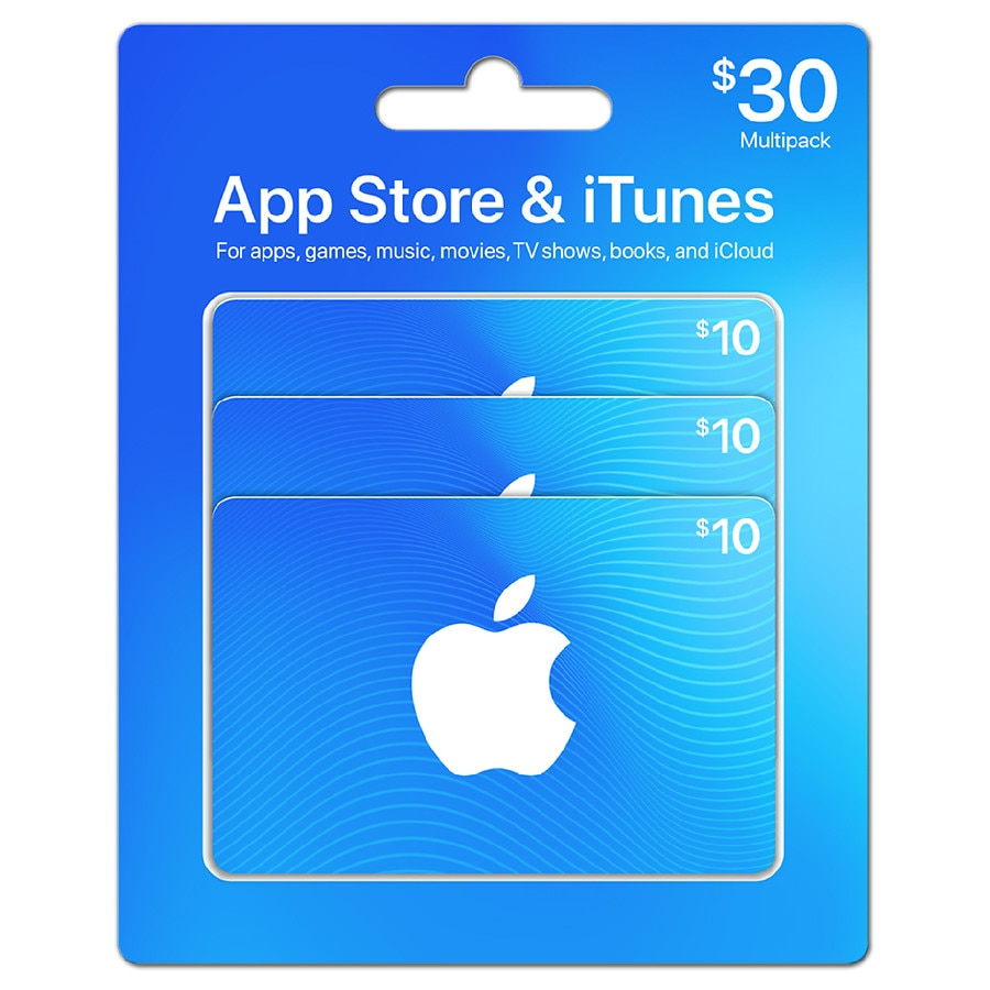 Apple Itunes 30 Multi Pack Gift Card Walgreens
