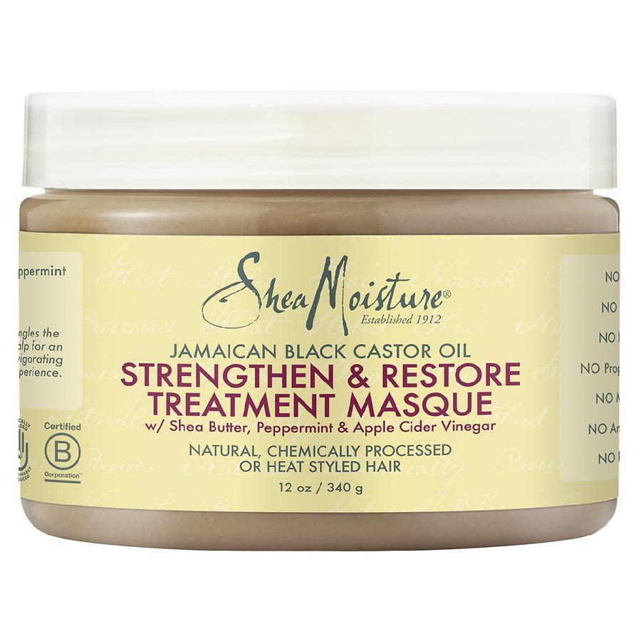 SheaMoisture Strengthen, Grow & Restore Treatment Masque Jamaican Black Castor Oil 12.0oz