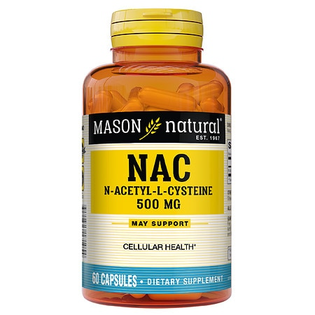 Mason Natural NAC N-Acethyl-L-Cysteine Essential Amino Acids, Capsules - 60 ea
