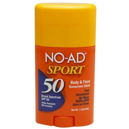 NO-AD Sport Sunscreen Stick SPF 50 - 1.5 oz.