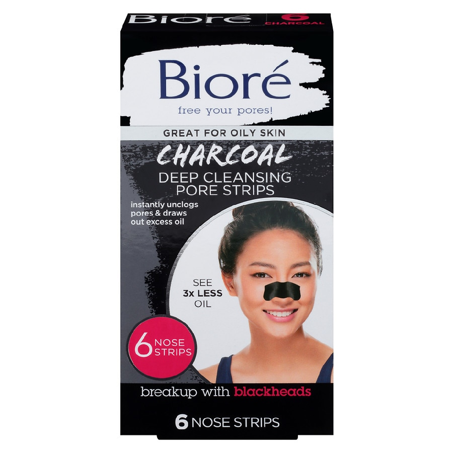 Charcoal Mask To Clear Pores And Detox Skin: Biore Deep Cleansing Charcoal Pore Strips