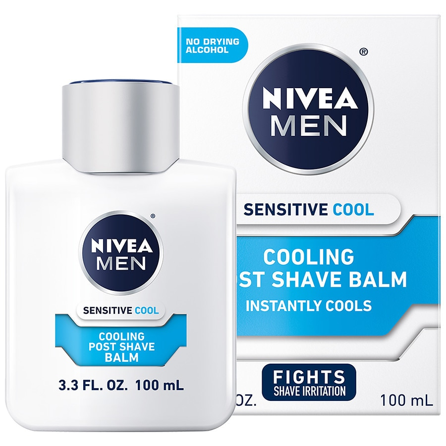 Aftershave & Pre-shave Shaving & Hair Removal Nivea Men Sensitive Cooling After Shave Balm 100ml Fast Color