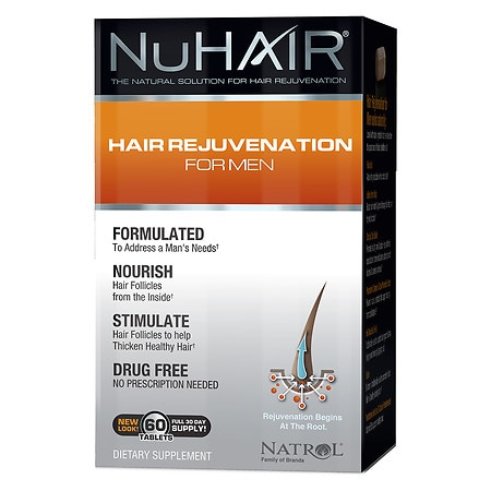 NuHair Hair Regrowth for Men Dietary Supplement Tablets - 50 tablets