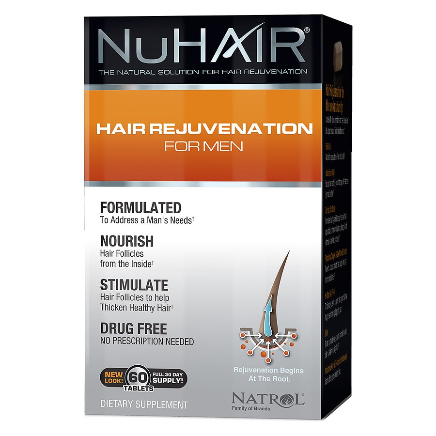 NuHair Hair Regrowth for Men Dietary Supplement Tablets50ea