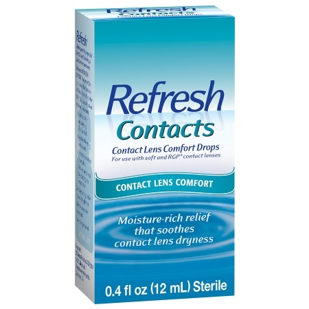 Refresh Contacts Contact Lens Comfort Moisture Drops for Dry Eyes - 0.4 fl oz