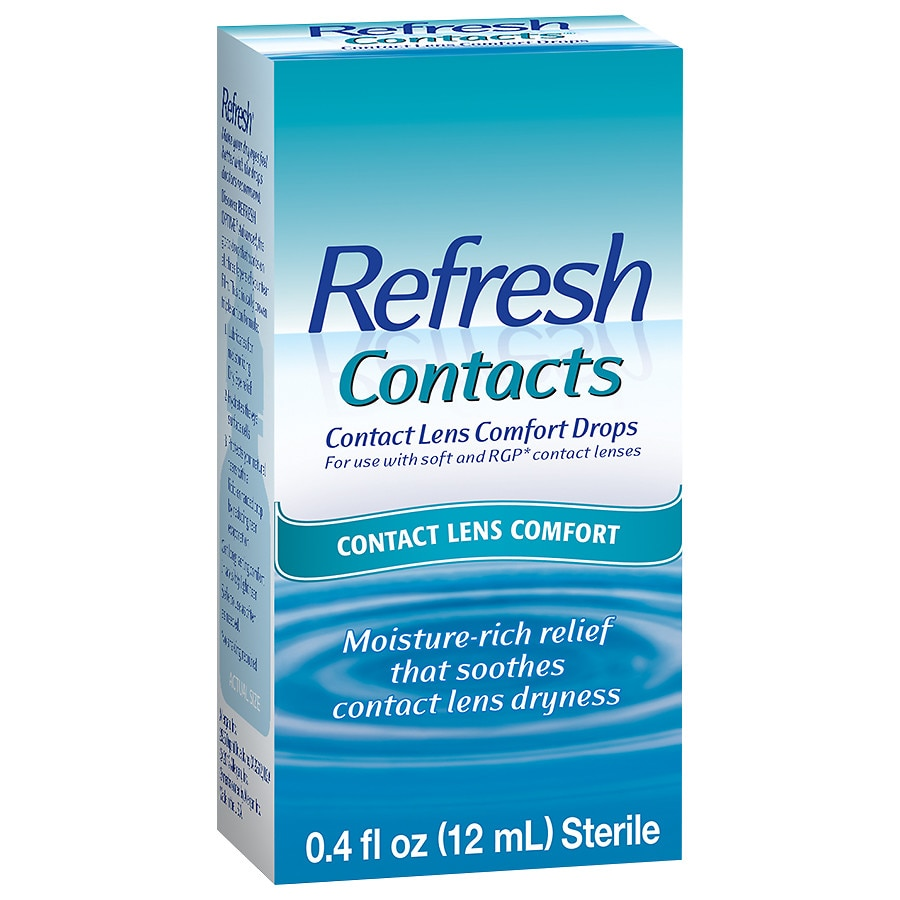 adc4e69b677 Refresh Contacts Contact Lens Comfort Moisture Drops for Dry Eyes0.4 oz