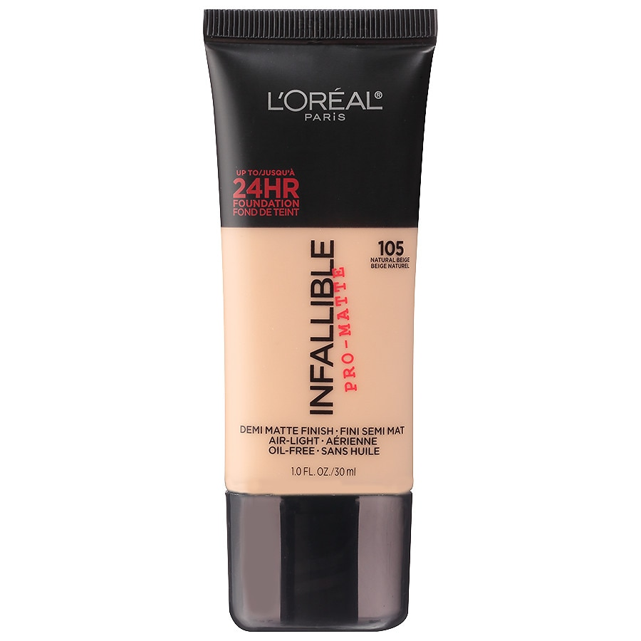 L'Oreal Paris Infallible Pro-Matte Liquid Foundation Makeup, Natural Beige1.0 fl oz