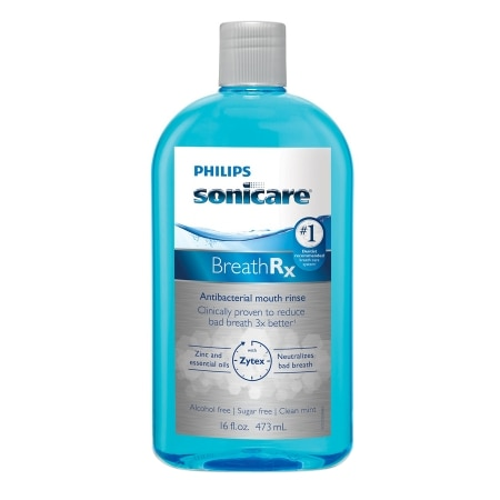 Philips Sonicare BreathRx Antibacterial Mouth Rinse Clean Mint - 16 oz.