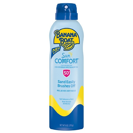 Banana Boat SunComfort Clear Spray Sunscreen, SPF 50+ - 6 fl oz