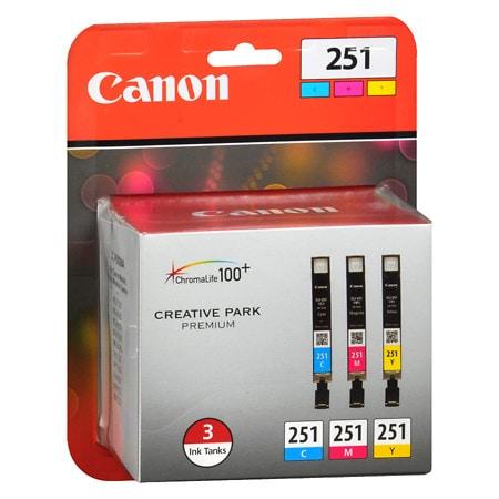 Canon Ink Cartridges 251 - 3 ea