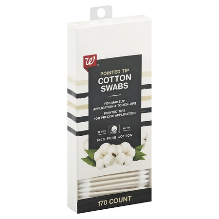 Walgreens Beauty Pointed Tip Cotton Swabs - 170 ea