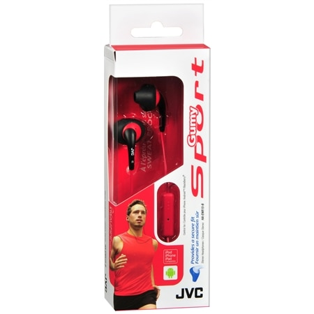 JVC Gumy Sport With Mic & Remote - 1 ea