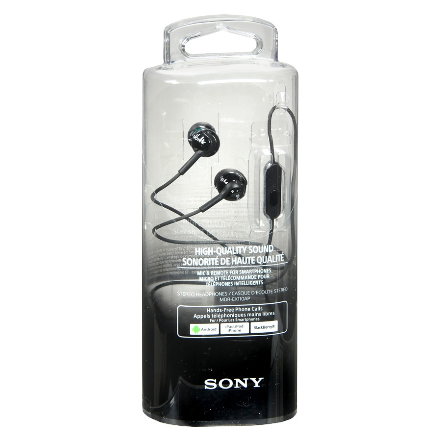 da5f6a4b96cba1 Sony Silicon Earbud Headset With Mic Black | Walgreens