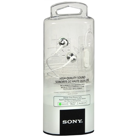 Sony Silicon Earbuds With Mic Smartphone - 1 ea