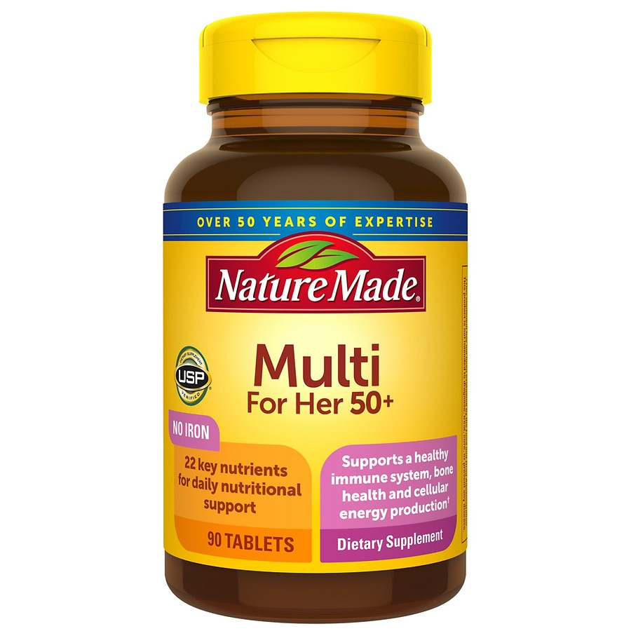 Nature Made Women's Multivitamin 50+ Tablets