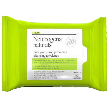 Neutrogena Naturals Purifying Makeup Remover Cleansing Wipes - 25 ea