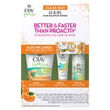 Olay Fresh Effects Clear Skin 1-2-3 Acne Solution System with Wet Cloths Citrus & Mint