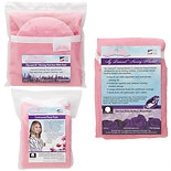 NuAngel Flip & Go Nursing Pad Case with Nursing Blanket & Contoured Burp Pad Set Pink