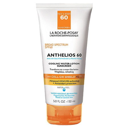 La Roche-Posay Anthelios Cooling Water Lotion Face Sunscreen SPF 60 with Cell Ox Shield - 5 oz.