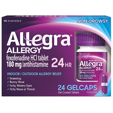 Allegra 24 Hour Allergy Relief 180mg Gelcaps