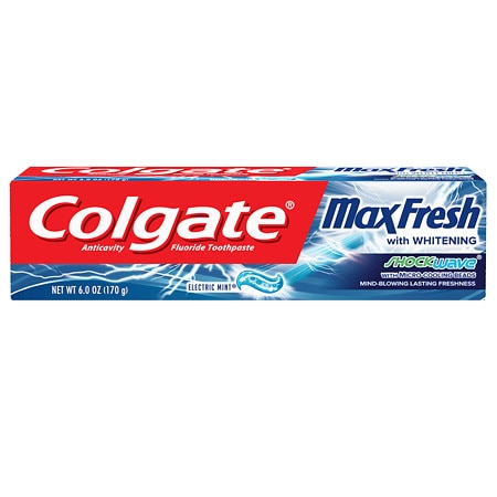 Colgate Max Fresh Shockwave Gel Toothpaste Electric Mint 6 Oz.