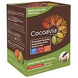 CocoaVia Daily Cocoa Extract Supplement Unsweetened Dark Chocolate