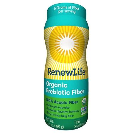 ReNew Life Skinny Gut Adult Fiber Supplement - 100% Organic Fruit & Acacia, Dietary Fiber Flavorless - 11.9 oz.