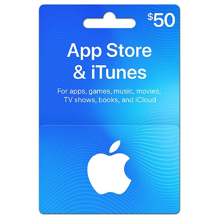 apple gift card. apple itunes $50 gift card green