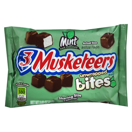 3 Musketeers Unwrapped Bites Mint - 2.83 oz.