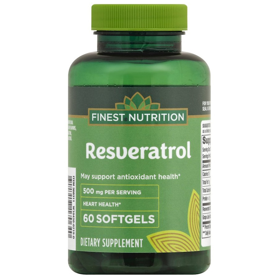 Finest Nutrition Resveratrol 500 Mg Walgreens