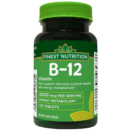 Finest Nutrition Timed Release Vitamin B12 2000mcg, Tablets - 120 ea