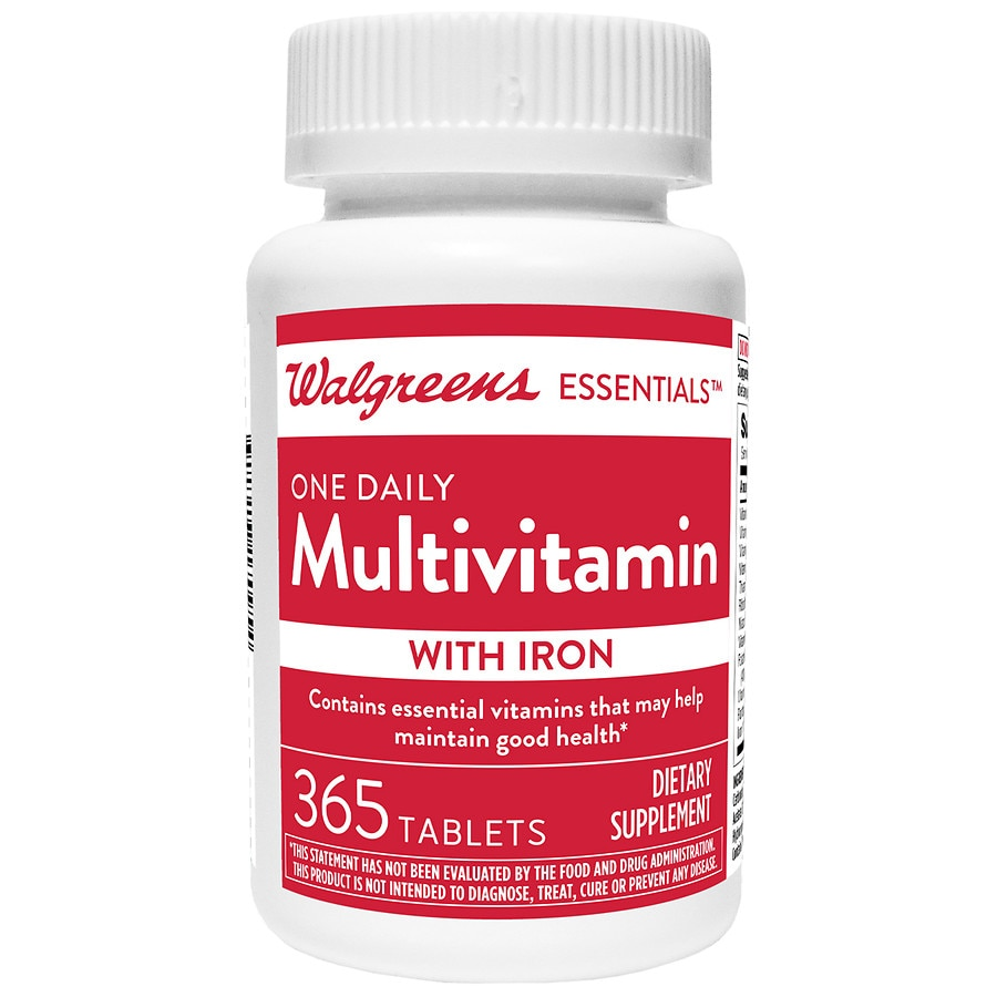 2-Pk Walgreens One Daily Multivitamin With Iron
