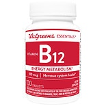 Walgreens Vitamin B12 Energy Metabolism 100mcg, Tablets