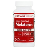 Walgreens Melatonin Sleep Support 3mg, Quick Dissolve Tablets Cherry