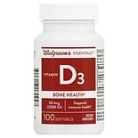wag-Vitamin D3 Bone Health 2000 IU, Softgels