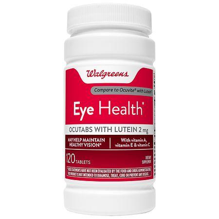 Walgreens Eye Health Ocutabs with Lutein 2mg, Tablets - 120 ea